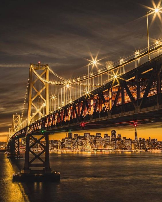 San Francisco at night golden hour by @independentcbh #sanfrancisco #sf