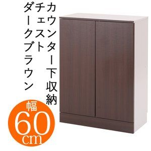 キッチンfncシリーズ カウンター下収納 扉幅60 ダークブラウン 収納