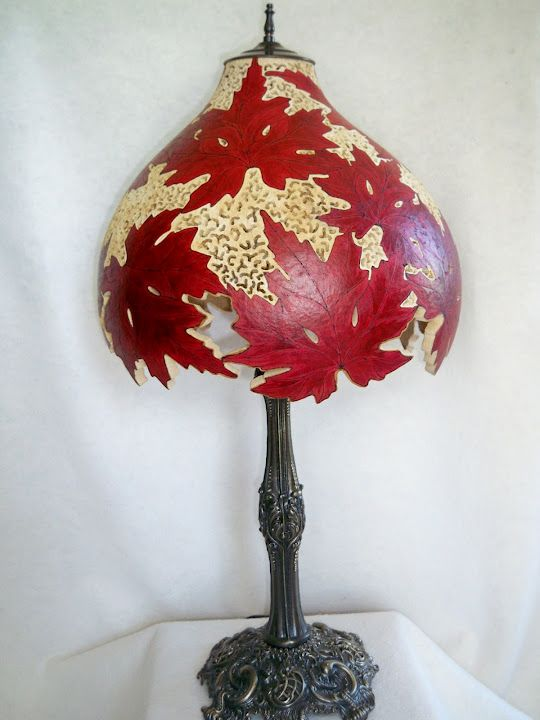 Gourd Lamp By Joanna Helphrey Craft Ideas Pinterest