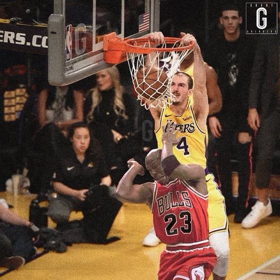 Alex Caruso Lakers Anthonydavis Highschoolbasketball Collegebasketball Draftday Nba Funny Basketball Is Life Memes