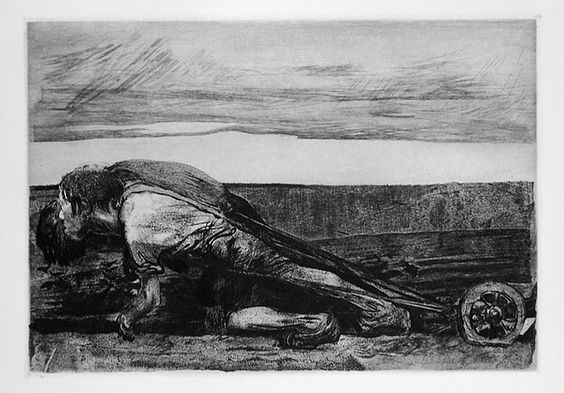 Kathe Kollwitz, The Peasant War, The Ploughman', 1907: