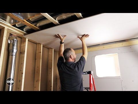 Complete Drywall Installation Guide Part 2 Installing Drywall On Your Ceiling Youtube Drywall Installation Drywall Repair Drywall