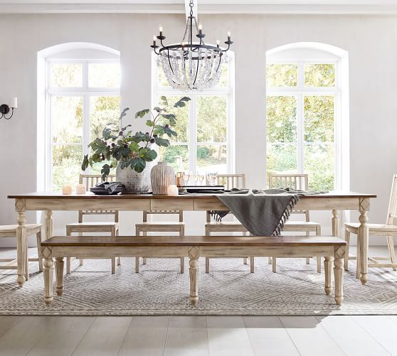 45+ Pottery barn small spaces dining table Ideas