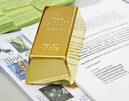 Fake Gold Bar Plate Bullion Door Stop Paper Weight Desk Office Table 1kg 35oz Gold Bullion Bars Gold Bullion Door Stop