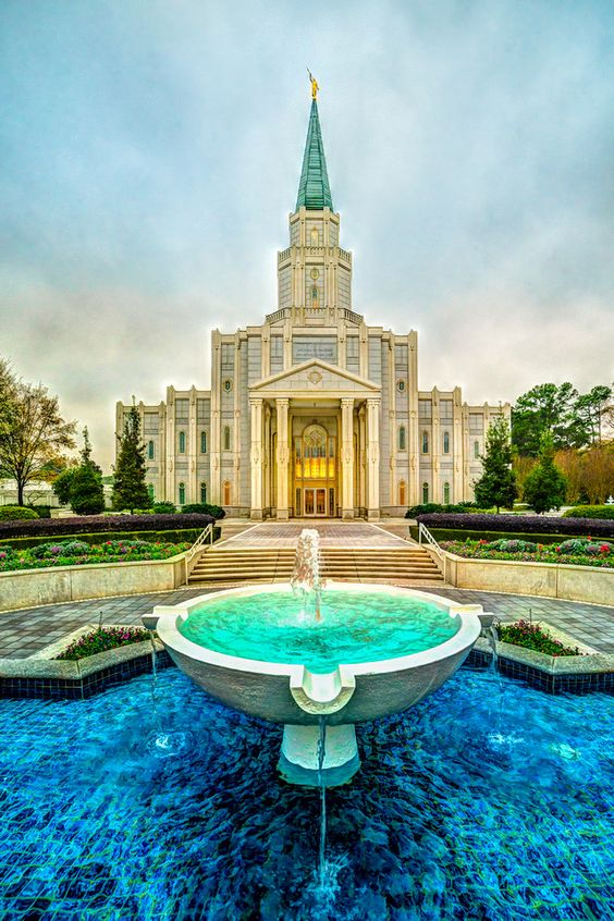 Promised Land - Houston LDS Temple.  This image links back to the main gallery prints and other fine products are available of this image.