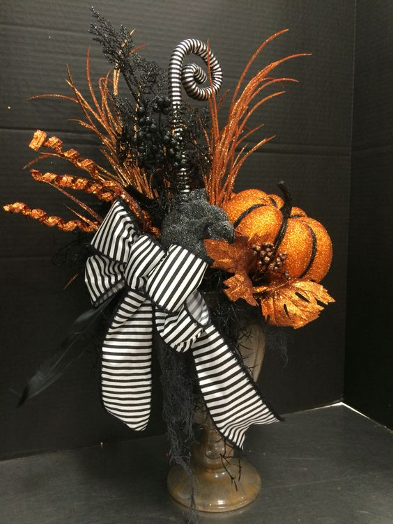 Tall Halloween Arrangement by Andrea