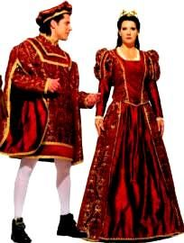 Romeo Costume, Juliet Costume, Princess or Queen Costume or Prince Costume, rental available