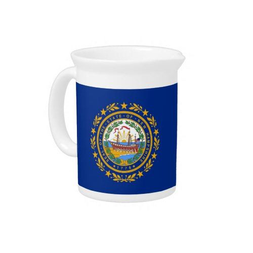 New Hampshire State Flag Pitcher State Flags Mugs New Hampshire