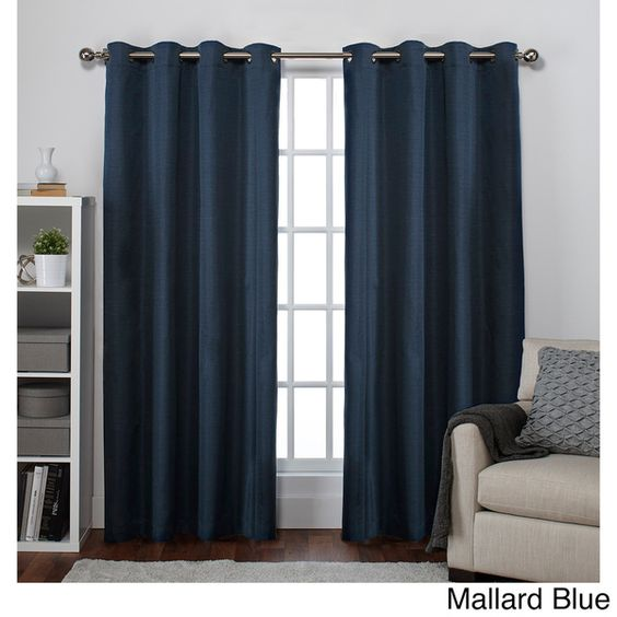Ati Home Raw Silk Thermal Insulated Grommet Top Curtain 84 96 Inch Length