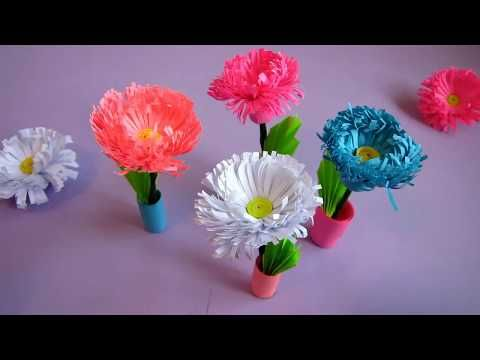 Small Paper Flower Pot Handmade Craft Home Decor Quilling