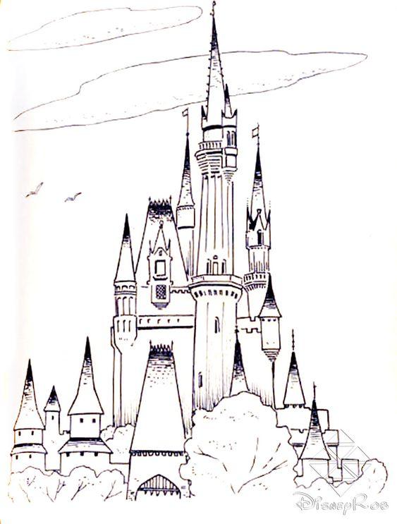 frozen cinderella castle Free Printable Castle Coloring