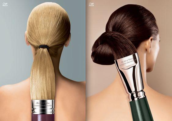 German campaign for Wella hair coloring. Ad agency: Leo Burnett. Art Director: Daniela Ewald.