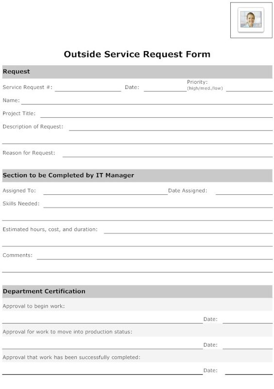 Pin by Candace V on Research IT service forms Pinterest - service request form