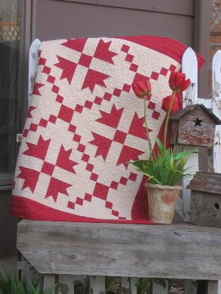 Folk Art Quilt Ideas : Joined at the Hip - Folk Art Quilt Designs and Original Patterns Two color quilts Pinterest ...