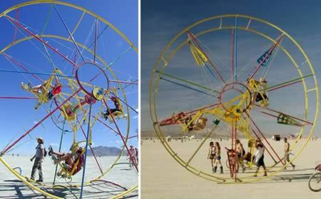 Pedal-powered Ferris Wheel