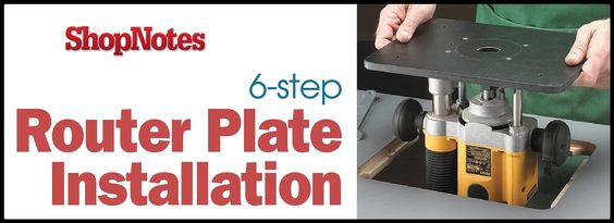 Good advice on how to install a router plate on to a bespoke router table.