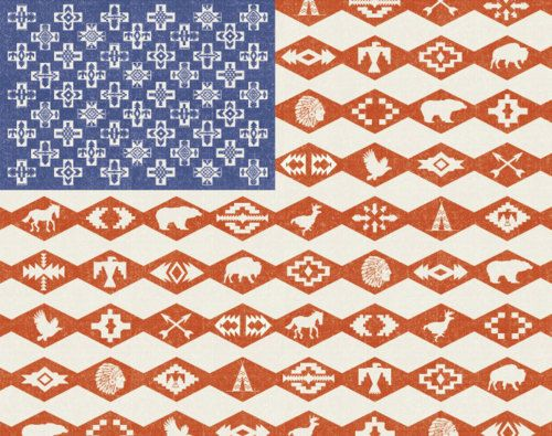 cherokee flag of our nation