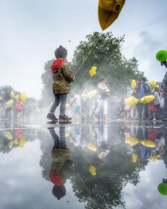 Le miroir d'eau. Distribution de ballons  instameet manigers France. #lvan #igersfrance #igersfrancelvan2016 #nuitduvan #igersnantes