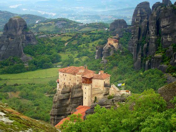 Greece, Grčija, Meteora, Kalabaka, Trikala, viseči samostani, monasteries on the top of the rock towers