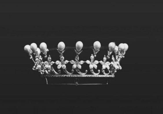 "Empress Alexandra Feodorovna of Russia's Diamond and Pearl tiara, by Boucheron. ""AL"""