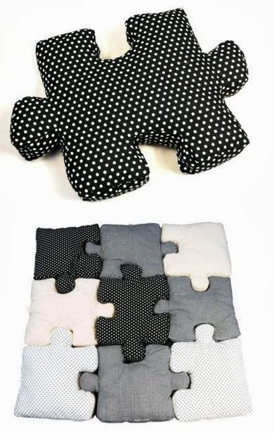 Beautiful Puzzle Pillows: