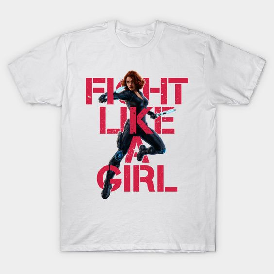Black Widow - Fight Like A Girl Unisex T-Shirt