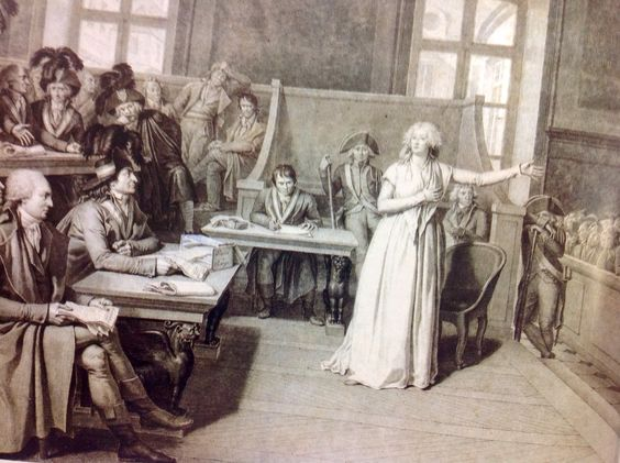 Maria Antonieta defendiendo su honor ante la acusación de incesto con su hijo,lo cual fue el peor error de sus enemigos