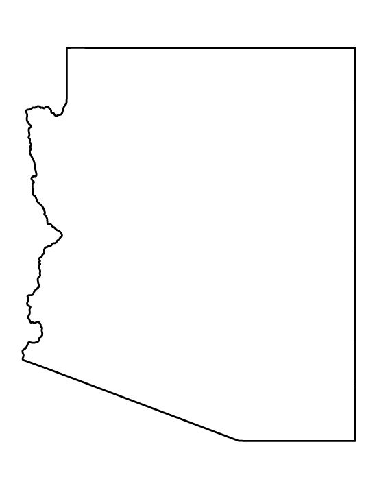 Geography Blog: Arizona - Outline Maps