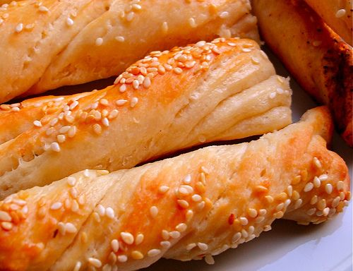 Bread Sticks with Tahini (Tahinli Çubuklar) by Glutton Cat, via Flickr