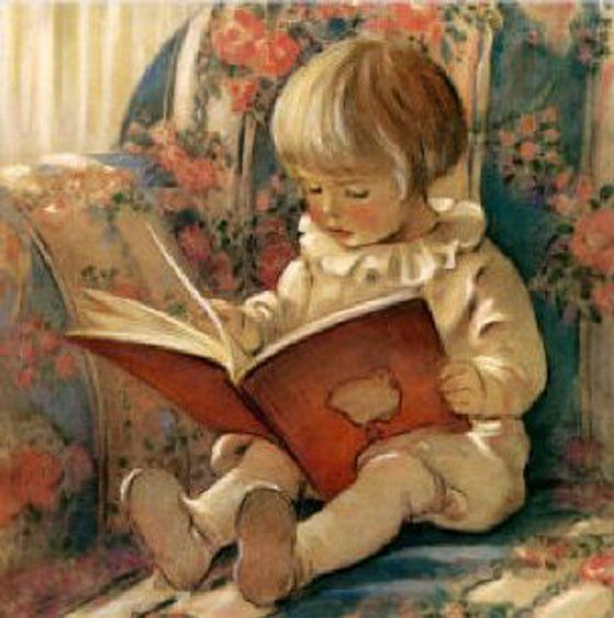 Quiet Corner - by Jessie Willcox Smith: