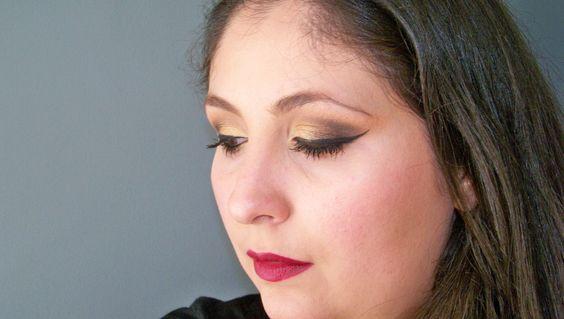 Maquiagem Dourada e Laranja