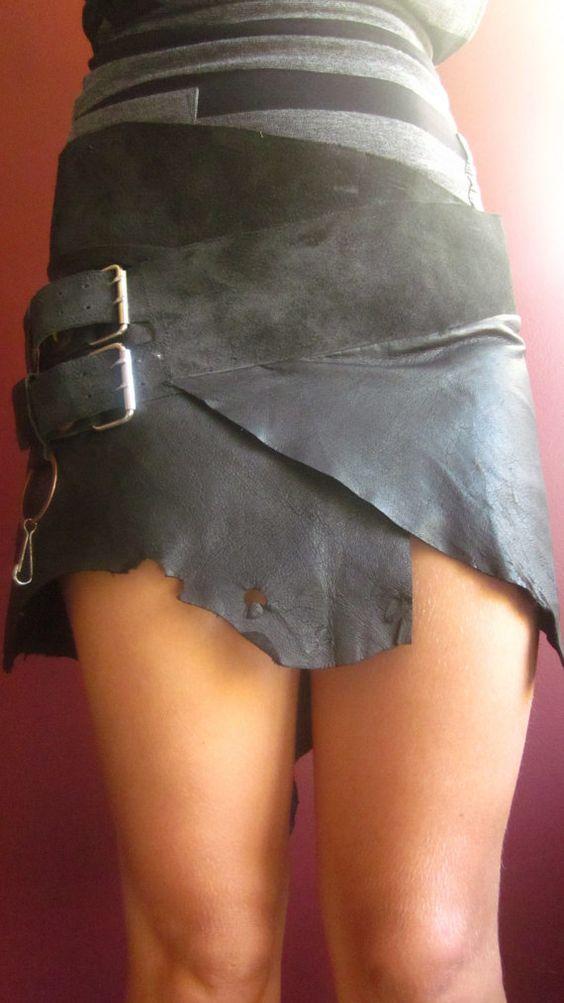 Tribal leather skirt...Tarzan meets Tinkerbell! (spruik on Etsy)
