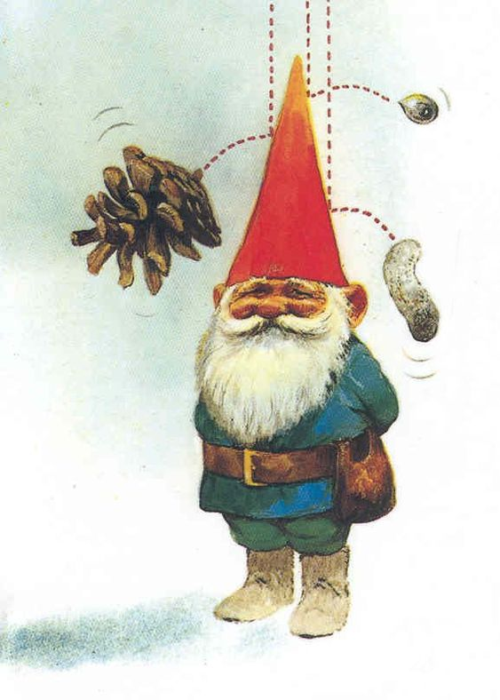"Why the pointy hats you ask? Illustration by Rien Poortvliet from the fantastic book ""Gnomes"""