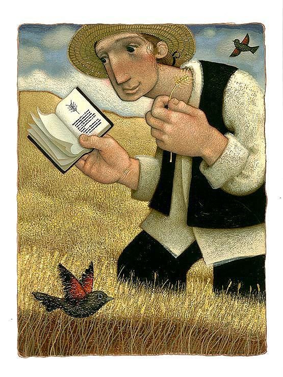 Checking the harvest / Comprobando la cosecha (ilustración de Matthew Trueman)