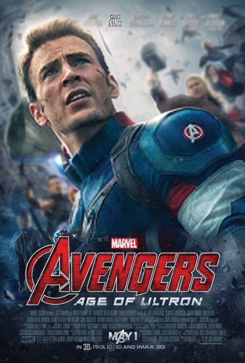 'Avengers: Age of Ultron' Captain America character poster
