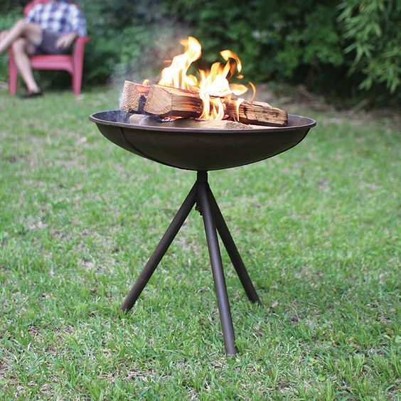 This portable fire pit is an essential artifact for the backyard camping experience—whether you're sleeping outside, or just entertaining guests on your lawn, this easy to carry and clean device will allow for a safe, raised fire perfect for S'more making, hot dog grilling, and storytelling without the mess of a dirty campfire or the risk of summer mosquitoes.