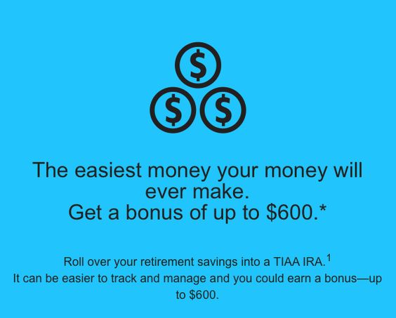 TIAA-CREF #IRA (Individual #Retirement Account) Bonus up to $600 Extra Cash.