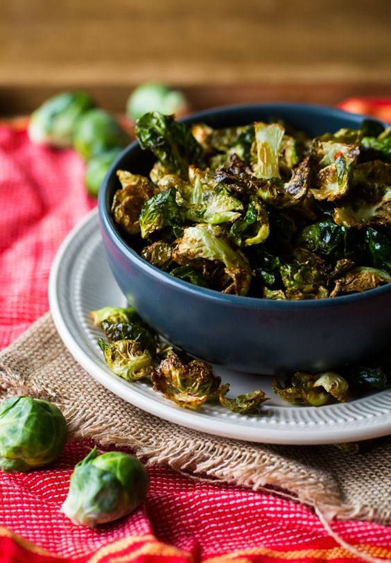 Fried Brussels Sprout Leaves with Lemon & Chili Flakes. The perfect crispy snack!