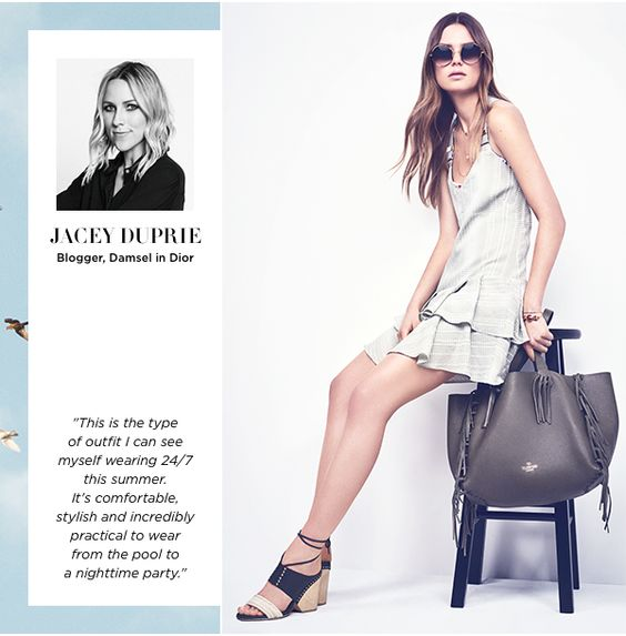 """Trendsetter Top Picks: """"This is the type of outfit I can see myself wearing 24/7 this summer. It's comfortable, stylish and incredibly practical to wear from the pool to a nighttime party."""" - Jacey Duprie"""