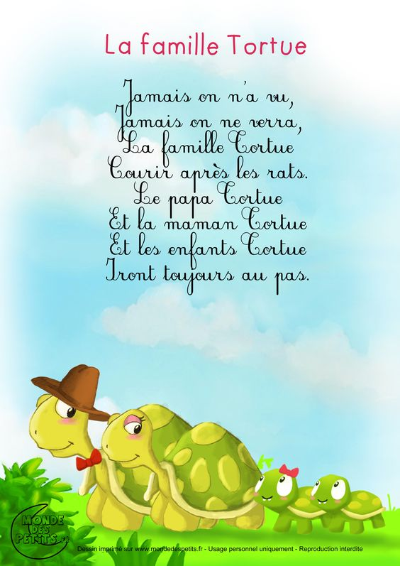 Paroles_La famille Tortue