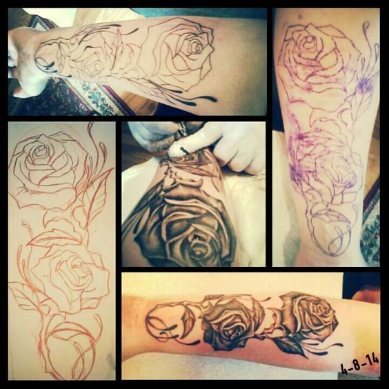 My First Tattoo, Covering Up Self Harm Scars. The Roses