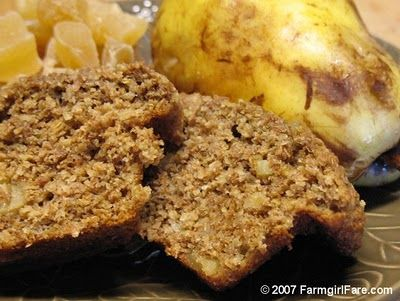 wholegrain ginger pear bran muffin ?breakfast