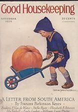 NOV 1929 GOOD HOUSEKEEPING vintage womans magazine - JESSE WILCOX SMITH