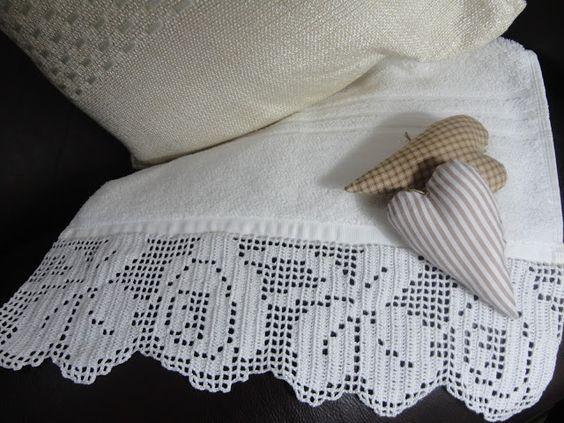 Toca do tricot e crochet: Toalha de lavabo IV !!! Uma preciosa renda !!!