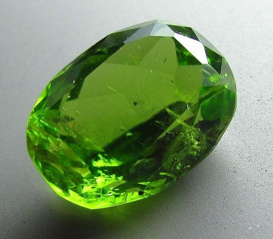 Peridot 8.75 ct Large Natural UNTREATED ARIZONA Gemstone OVAL Cut VS Gem New #JewelsRoughGems