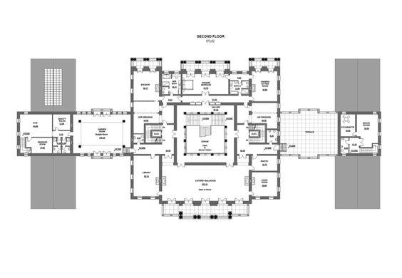 50,000 square foot mansion design second floor