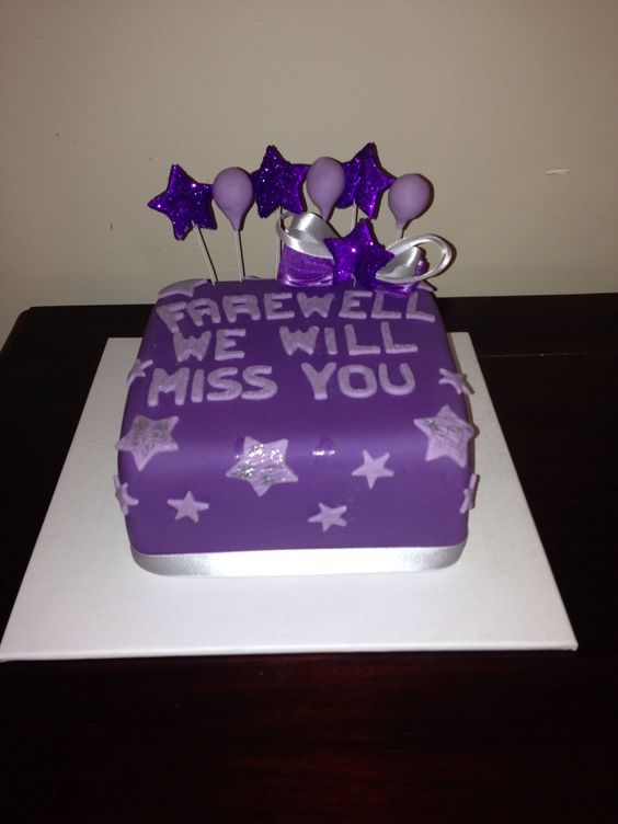Farewell Cake Purple And Cakes On Pinterest