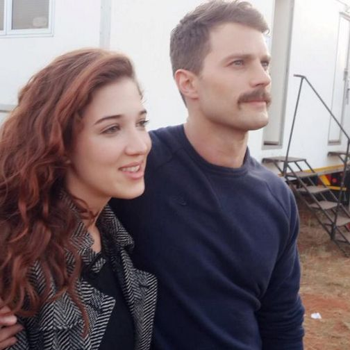 New photo of Jamie Dornan with a fan on set of Jadotville.