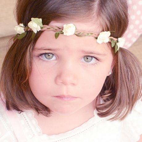 Diadema trenzada con flores para bebé Cinta para el pelo con elástico adaptable a varios tamaños