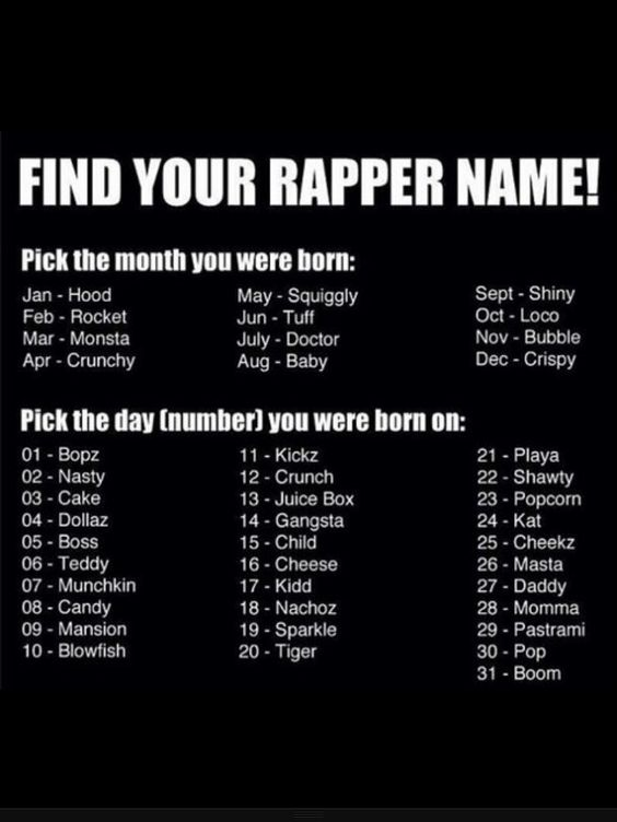What's your name? Mine is bubble pop! Whadddduuupp!!